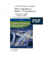 Solution Manual for Traffic and Highway Engineering SI Edition 5th Edition Garber, Hoel