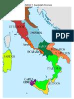 Mapa de Roma Siglo V