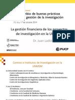 Juan Arroyo-La Gestión Financiera de Los Proyectos de Investigación en La UNMSM