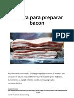 preparar bacon