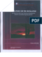 Regulations for the Installation