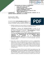 SEXTO JUZGADO DE TRABAJO REQUIERE AL ALCALDE DE LIMA CUMPLIR CON LA SENTENCIA.