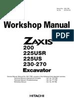 HITACHI Copy of Workshop Manual ZX200