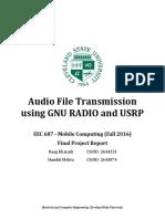 Audio file transmission using Gnu and usrp