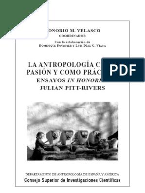 Velasco Antropologiapasionypractica Etnografía Antropología