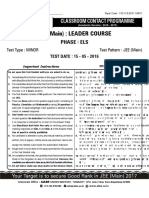 Leader test series Allen for jee mains