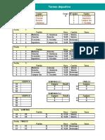 Torneo Deportivo en Excel