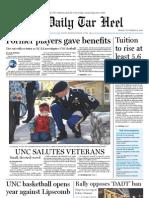 The Daily Tar Heel for November 12, 2010