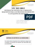 PRESENTACIÓN NTC 10012