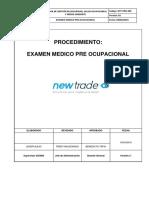 Ntp-pro-009 - Procedimiento Para Exam. Pre Ocupacional