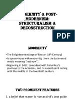 Modernity & Post-Modernism