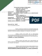 JUZGADO DE TRABAJO RECHAZA PEDIDO DE NULIDAD DE SUSPENSIÓN JUDICIAL Y ORDENA CUMPLIR EJECUCION