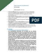 Conceptos Variables Trabajo Fundamentos de Administración
