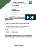 Informe N°001 Salida-Botadero
