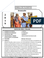 Syllabus de Filosofia 4to Año