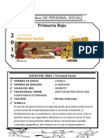Syllabus de Personal Social 2do
