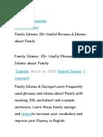 Idioms Family