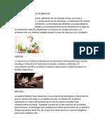 Tecnologías en Los Alimentos