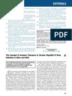 Imune Tolerance in Chronic Hepatitis B