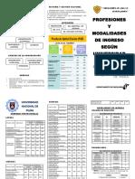 Profesiones y Modalidades de Ingreso a la Universidad Nacional Piura y UDEP