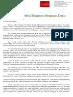 Belajar Dari Ambisi Singapura Menguasai Dunia