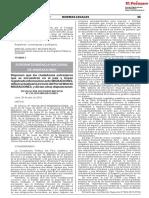 Resolución El Peruano actualización de datos