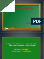 Objeto Directo e Indirecto 7º