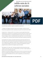 08-06-2019 Entrega Astudillo más de 15 mdp en beneficios sociales.