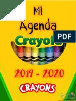 Agenda Crayolas editable