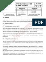 PT DA 003 Cadastro e Avaliação de Fornecedor Ok