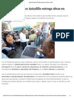 09-06-2019 Gobernador Héctor Astudillo entrega obras en Tierra Caliente.
