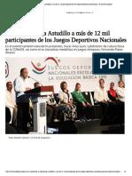 11-06-2019 Da la bienvenida Astudillo a más de 12 mil participantes de los Juegos Deportivos Nacionales.