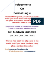 Prolegomena on Formal Logic Free Edition