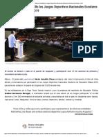 11-06-2019 Inaugura Héctor Astudillo los Juegos Deportivos Nacionales Escolares de Educación Básica 2019.