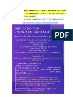 PRODUÇÃO TEXTUAL - LOGÍSTICA - FÁBRICA DE CHOCOLATES WONKA - VLR R$ 60,00 (92) 99468-3158