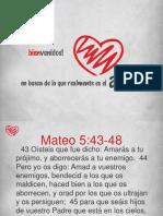 AMOR - Amad a Vuestros Enemigos Mateo 5