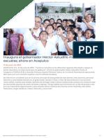21-06-2019 Inaugura el gobernador Héctor Astudillo más escuelas; ahora en Acapulco.