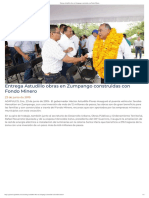 23-06-2019 Entrega Astudillo Obras en Zumpango Construidas Con Fondo Minero.