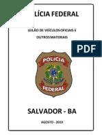 Revista Leilão 001 2019 Bahia