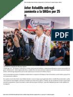 26-06-2019 El gobernador Héctor Astudillo entregó vehículos y equipamiento a la UAGro por 25 millones de pesos.