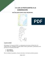 13 Candidatos a La Gobernación de Santa Cruz