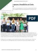 29-06-2019 Entrega Astudillo Apoyos y Beneficios en Costa Chica de Guerrero.