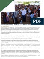 29-06-2019 Entrega Astudillo obra hidráulica en Cuajinicuilapa.