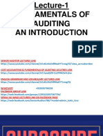 Fundamentals of Financial Auditing 1