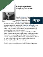 George Topîrceanu - Biography and poetry