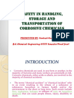 SAFETY IN HANDLING, STORAGE AND TRANSPORTATION OFCORROSIVE CHEMICALS