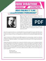 Ricardo Palma y Las Tradiciones Peruanas Para Cuarto de Secundaria