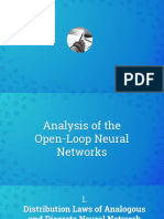 Analysis of the Open-Loop Neural Networks