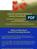 Learning Challenges in Sensory Processing Disorder Powerpoint