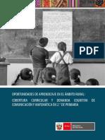 Cobertura curricular y demanda cognitiva de comunicación y matemática en 2o. de Primaria